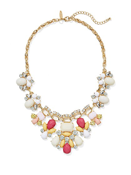 Cabochon Shimmer Necklace  - New York & Company