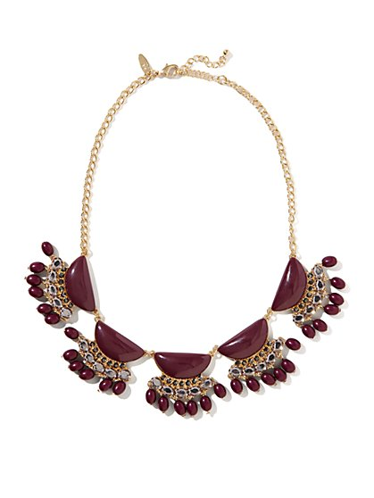 Cabochons & Beads Bib Necklace - New York & Company