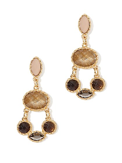 Cabochons Chandelier Drop Earring
