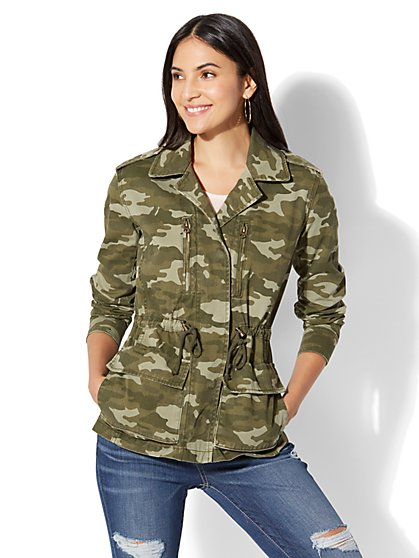 Camo Utility Jacket - New York & Company