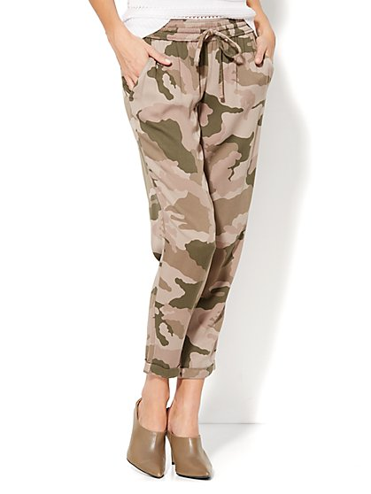 Camouflage-Print Jogger Pant  - New York & Company