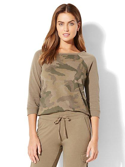 Camouflage-Print Sweatshirt - New York & Company
