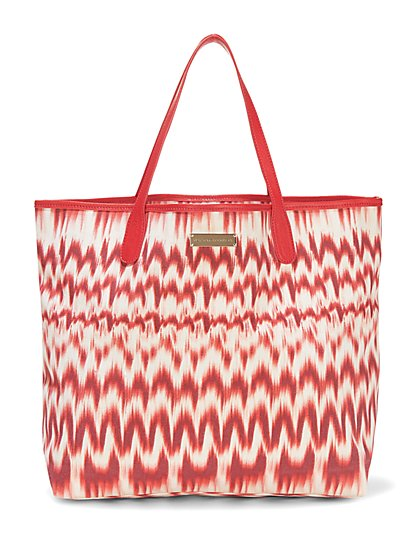 Canvas Tote - Ikat Print  - New York & Company