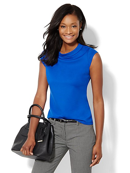 Cap-Sleeve Top  - New York & Company