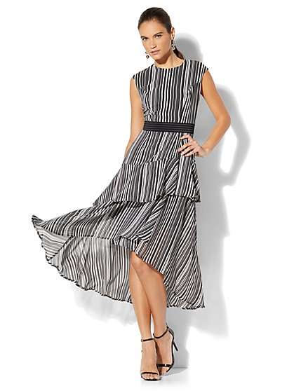 Cascade Ruffle Dress - New York & Company