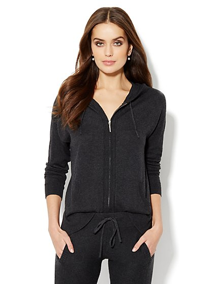 Cashmere Touch Hooded Sweater   - New York & Company