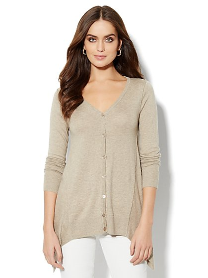 Cashmere Touch - Sharkbite Cardigan Sweater - New York & Company