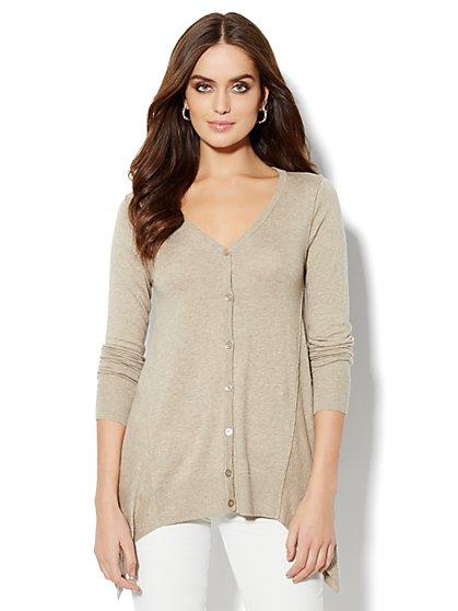 Cashmere Touch - Sharkbite Cardigan Sweater - New York & Company