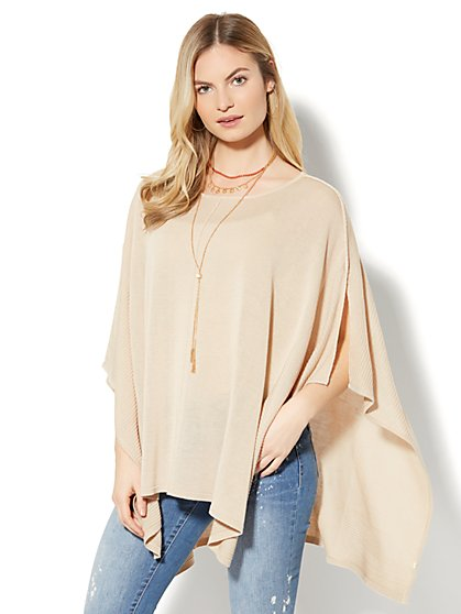 Center-Seam Poncho - New York & Company