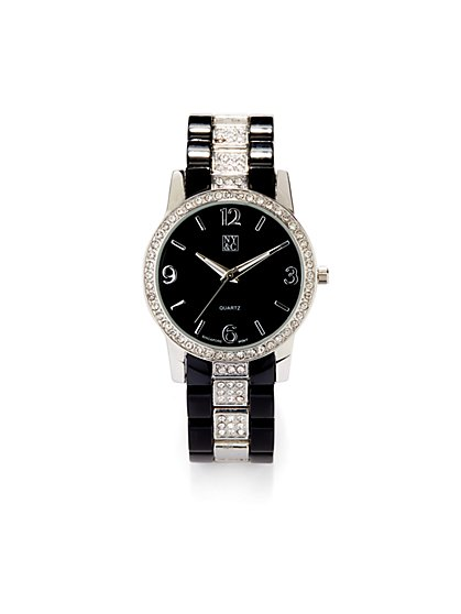 Ceramic Pave Watch - New York & Company