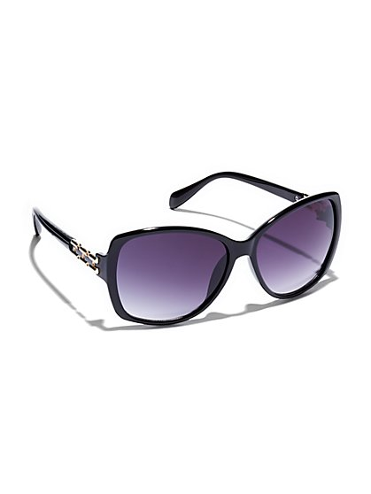 Chain-Link Accent Sunglasses  - New York & Company