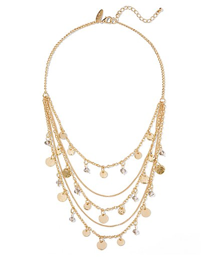 Chain-Link Bib Necklace  - New York & Company