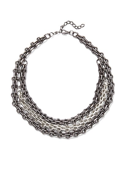 Chain-Link Choker Necklace  - New York & Company