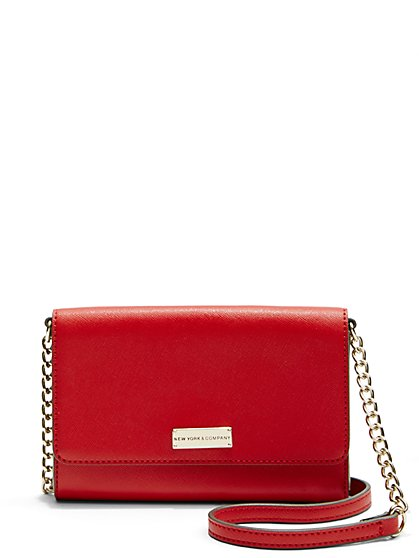 Chain-Link Crossbody Bag  - New York & Company