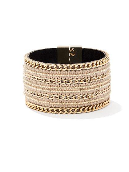 Chain-Link Cuff Bracelet  - New York & Company