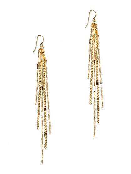 Chain-Link Drop Earring  - New York & Company
