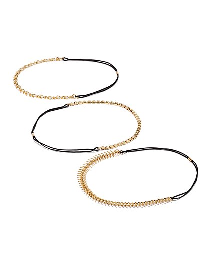 Chain-Link Headband Set  - New York & Company