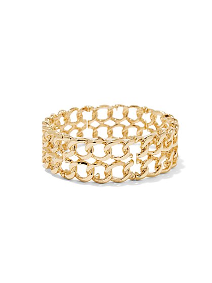 Chain-Link Stretch Bracelet  - New York & Company