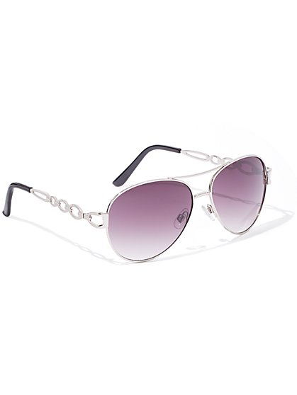 Chain-Link Sunglasses - New York & Company