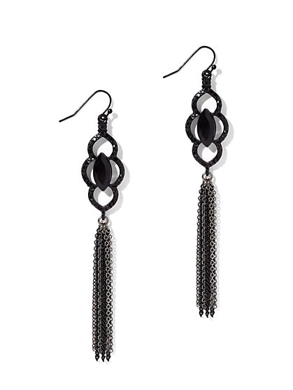 Chain-Link Tassel Drop Earring  - New York & Company