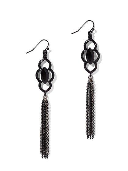 Chain-Link Tassel Drop Earring  - New York & Company