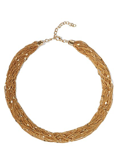 Chain-Link Torsade Necklace  - New York & Company