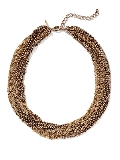 Chain Link Twist Necklace  - New York & Company