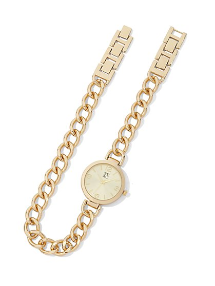 Chain-Link Wrap Watch  - New York & Company