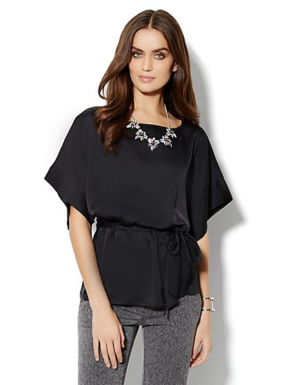 Charmeuse Belted Tunic - New York & Company