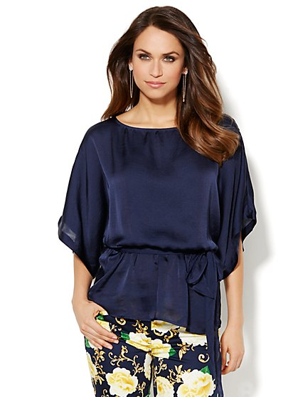 Charmeuse Dolman Blouse - Solid  - New York & Company