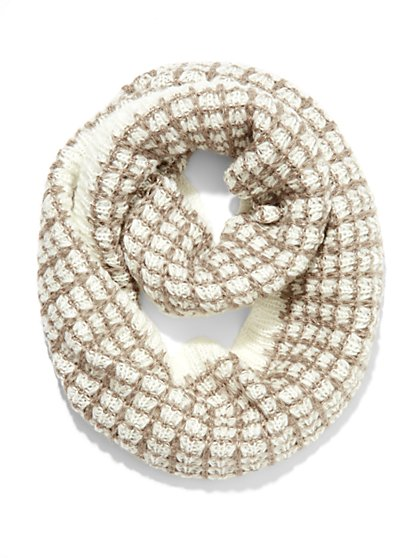 Check-Pattern Infinity Scarf  - New York & Company