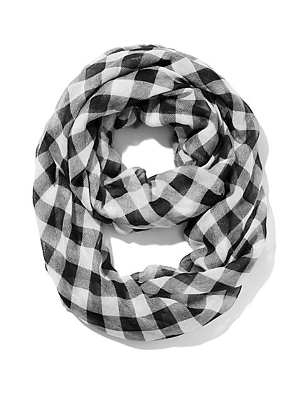 Checker-Print Scarf