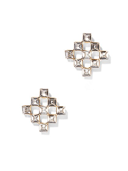 Checkerboard Post Earring  - New York & Company
