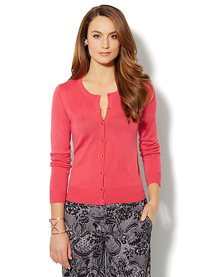 Chelsea Novelty-Button Cardigan Sweater - New York & Company