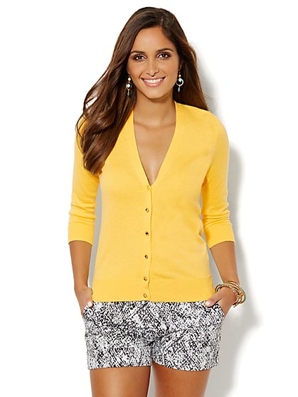 Chelsea V-Neck Cardigan  - New York & Company