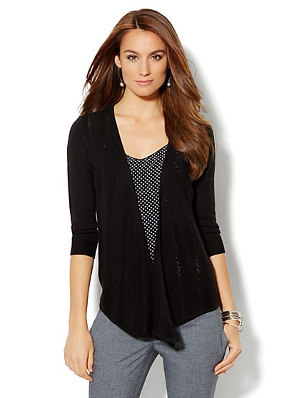 Chevron Flyaway Cardigan - New York & Company