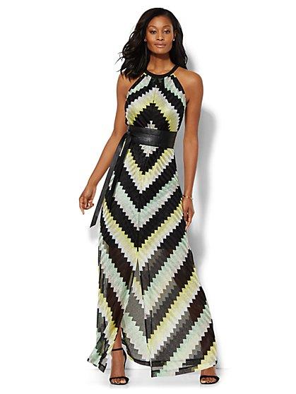Chevron Halter Maxi Dress - New York & Company