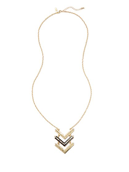 Chevron Pendant Necklace - New York & Company