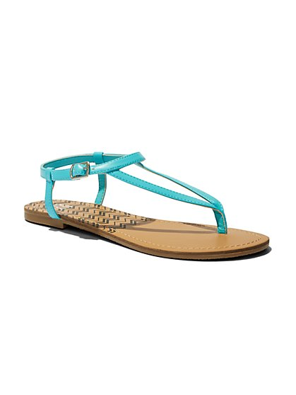 Chevron-Print Thong Sandal  - New York & Company