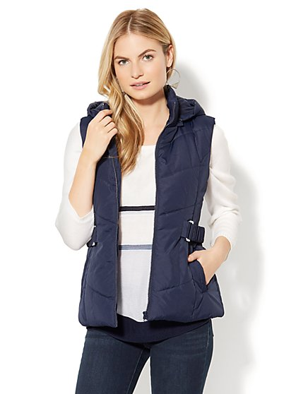 Chevron Puffer Vest - New York & Company