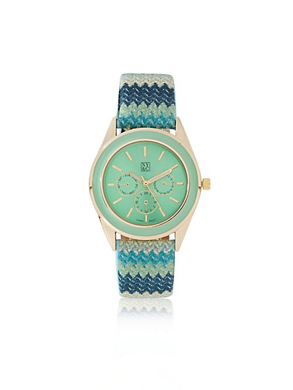 Chevron-Strap Watch  - New York & Company
