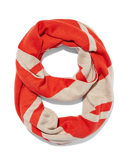 Chevron Stripe Scarf  - New York & Company