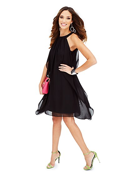 Chiffon Halter Dress  - New York & Company