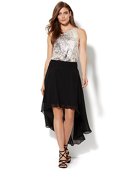 Chiffon Hi-Lo Skirt - New York & Company