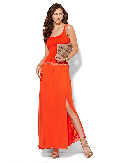 Chiffon Side-Slit Maxi Skirt  - New York & Company