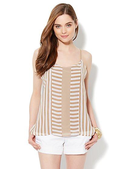 Chiffon Stripe Camisole