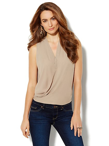Chiffon Wrap Blouse - New York & Company