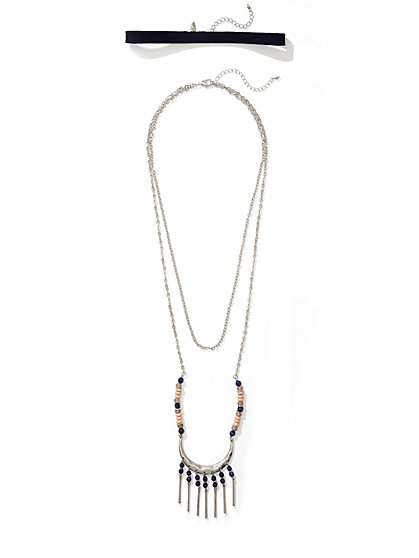 Choker & Pendant Necklace  - New York & Company