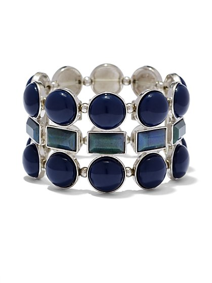 Circle & Rectangle Stretch Bracelet  - New York & Company