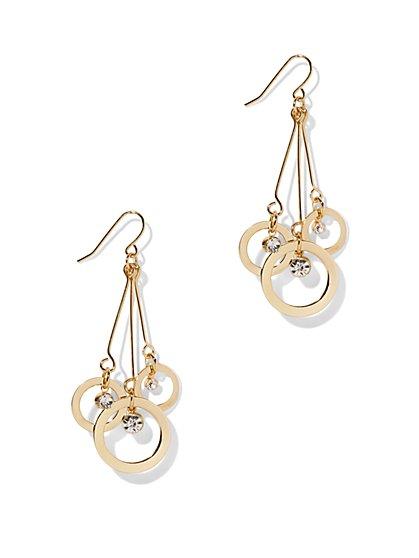 Circle-Themed Linear Drop Earring - New York & Company